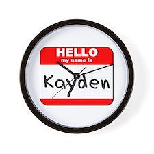 Hello my name is Kayden Wall Clock