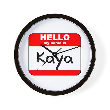 Hello my name is Kaya Wall Clock