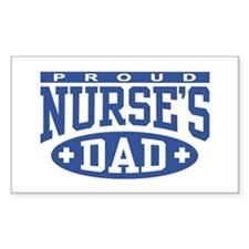 Proud Nurse's Dad Rectangle Decal
