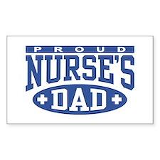 Proud Nurse's Dad Rectangle Stickers