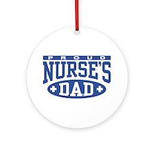 Proud Nurse's Dad Ornament (Round)