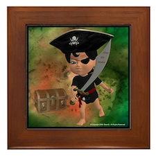 Cute Ahoy matey Framed Tile