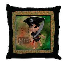 Funny Pirate treasure Throw Pillow