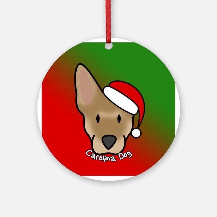 Cartoon Carolina Dog Christmas Ornament