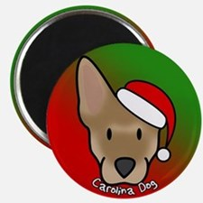 Cartoon Carolina Dog Christmas Magnet