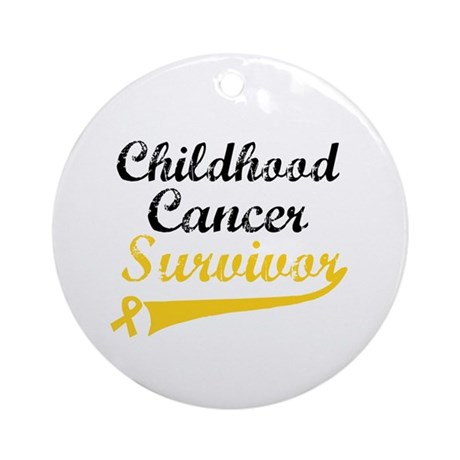 ChildhoodCancerSurvivor Ornament (Round)
