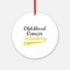 ChildhoodCancerSurvivor Ornament (Round)