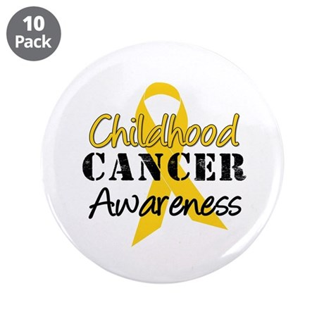 """Childhood Cancer 3.5"""" Button (10 pack)"""