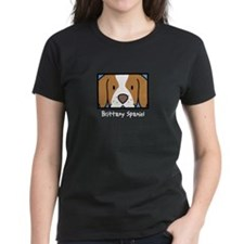 Anime Brittany Spaniel Women's Black T Shirt