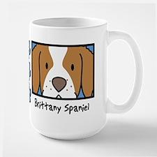 Anime Brittany Spaniel Large Mug