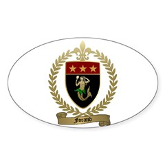 FORAND Family Crest Oval Decal