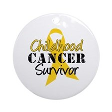 Childhood Cancer Survivor Ornament (Round)