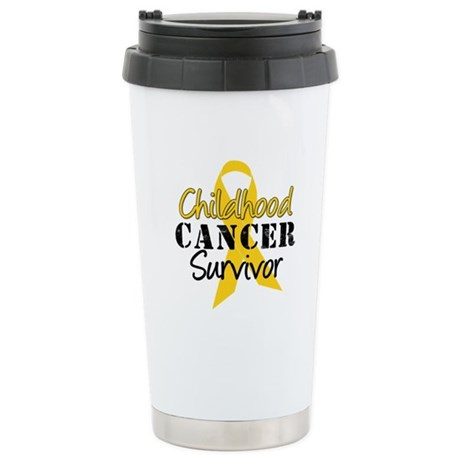 Childhood Cancer Survivor Stainless Steel Travel M