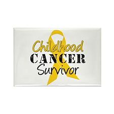 Childhood Cancer Survivor Rectangle Magnet