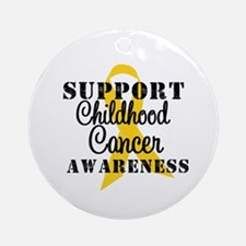 SupportChildCancer Ornament (Round)