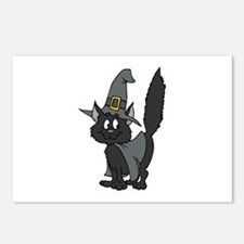 Black Witchy Cat Postcards (Package of 8)