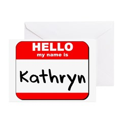 Hello my name is Kathryn Greeting Cards (Pk of 10)