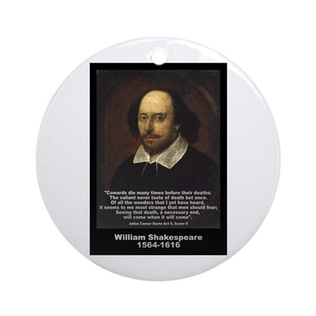 William Shakespeare Quote Ornament (Round)