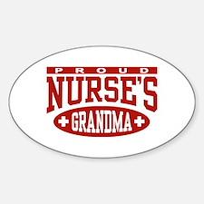 Proud Nurse's Grandma Oval Decal