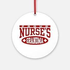 Proud Nurse's Grandma Ornament (Round)