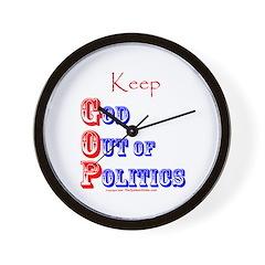 Keep G.O.P. Wall Clock