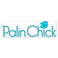 Palin Chick Blue Bumper Bumper Sticker