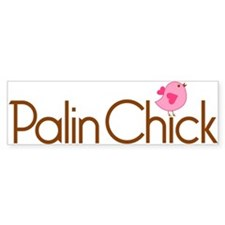 Palin Chick Brown Bumper Bumper Sticker