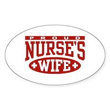 Proud Nurse's Wife Oval Decal