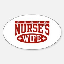 Proud Nurse's Wife Oval Decal