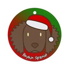 Cartoon Boykin Spaniel Christmas Ornament