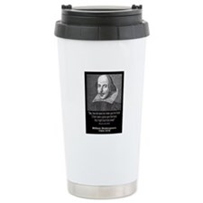 William Shakespeare Quote Travel Mug