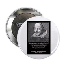 "William Shakespeare Quote 2.25"" Button"