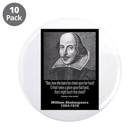 "William Shakespeare Quote 3.5"" Button (10 pack)"