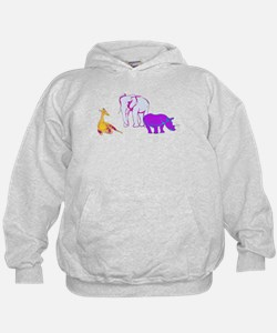 Funny Pink and blue crazy daisy Hoodie