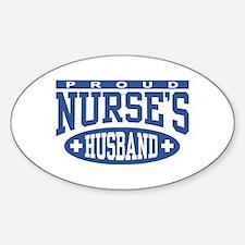 Proud Nurse's Husband Oval Decal