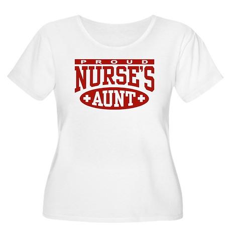 Proud Nurse's Aunt Women's Plus Size Scoop Neck T-