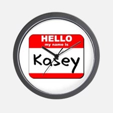 Hello my name is Kasey Wall Clock