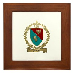 FAUCHER Family Crest Framed Tile