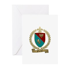 FAUCHER Family Crest Greeting Cards (Pk of 10)