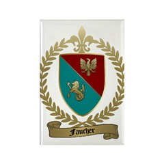FAUCHER Family Crest Rectangle Magnet (100 pack)