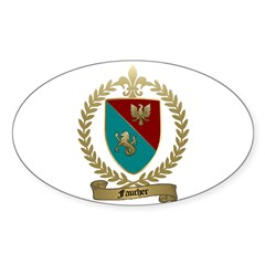 FAUCHER Family Crest Oval Decal