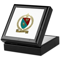FAUCHER Family Crest Keepsake Box