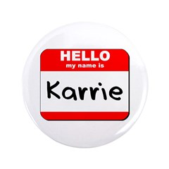 Hello my name is Karrie 3.5