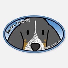 Anime Bluetick Coonhound Oval Decal