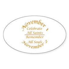All Saints, All Souls Oval Decal