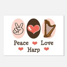 Peace Love Harp Postcards (Package of 8)