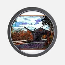 Bennington, VT Covered Bridge Wall Clock