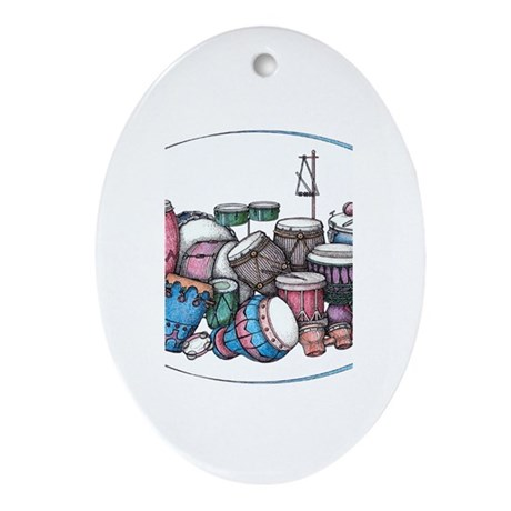 Drummer's Oval Ornament