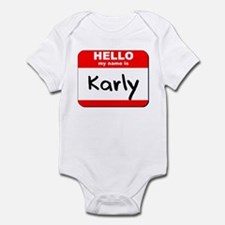 Hello my name is Karly Infant Bodysuit