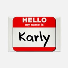 Hello my name is Karly Rectangle Magnet